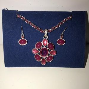 [MUST GO] NWOT AVON Pink Necklace and Earrings Set